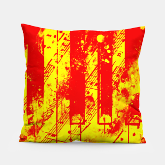 Miniatur piano keys and music sheet pattern wsry Pillow, Live Heroes