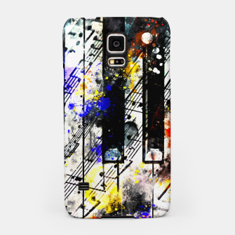 Thumbnail image of piano keys and music sheet pattern wsstd Samsung Case, Live Heroes