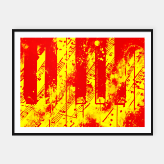 Thumbnail image of piano keys and music sheet pattern wsry Framed poster, Live Heroes