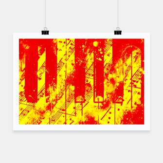Thumbnail image of piano keys and music sheet pattern wsry Poster, Live Heroes