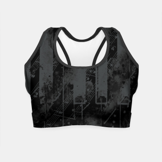Miniatur piano keys and music sheet pattern wsbgr Crop Top, Live Heroes