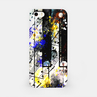 Thumbnail image of piano keys and music sheet pattern wsstd iPhone Case, Live Heroes