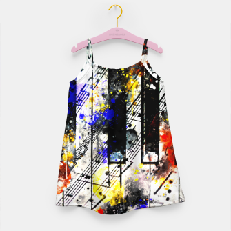 Thumbnail image of piano keys and music sheet pattern wsstd Girl's dress, Live Heroes