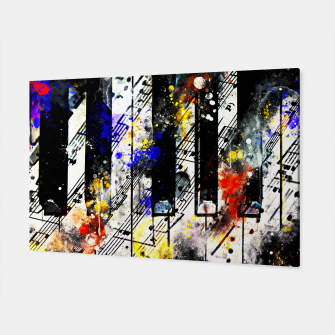 Thumbnail image of piano keys and music sheet pattern wsstd Canvas, Live Heroes