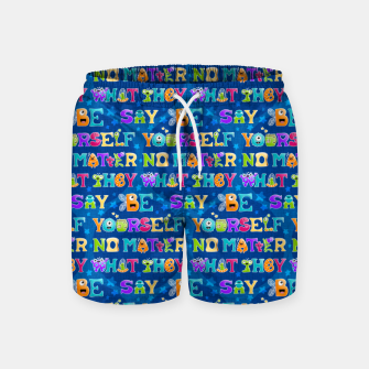 Thumbnail image of Be Yourself - Pattern Pantalones de baño, Live Heroes