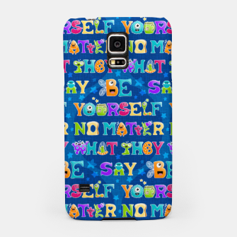 Thumbnail image of Be Yourself - Pattern Carcasa por Samsung, Live Heroes