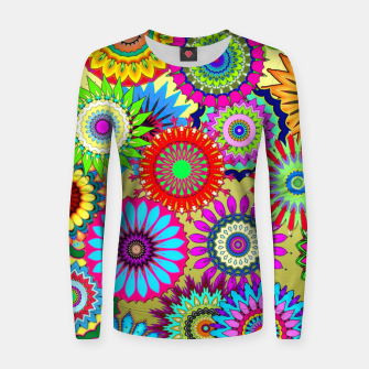 Thumbnail image of Psy Flowers Women sweater, Live Heroes