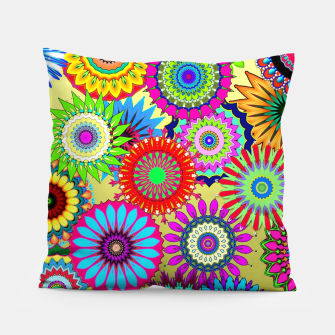 Thumbnail image of Psy Flowers Pillow, Live Heroes