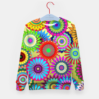 Thumbnail image of Psy Flowers Kid's sweater, Live Heroes