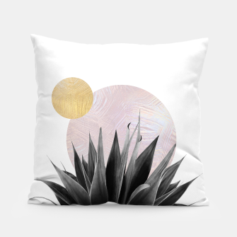 Miniatur metal circles and plants Pillow, Live Heroes