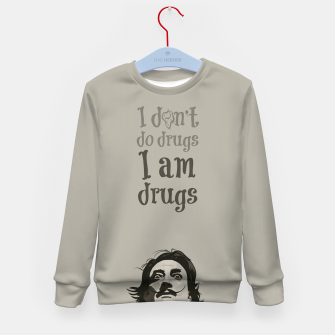 Miniaturka I am drugs Kid's sweater, Live Heroes