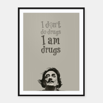 Miniaturka I am drugs Framed poster, Live Heroes