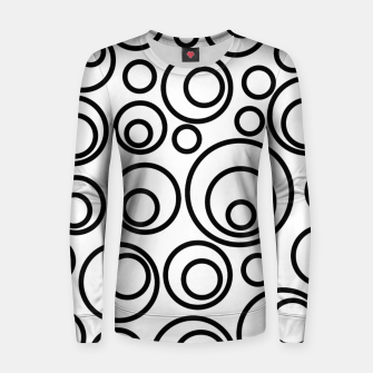 Miniatur Abstract Black On White Circles Design Women sweater, Live Heroes