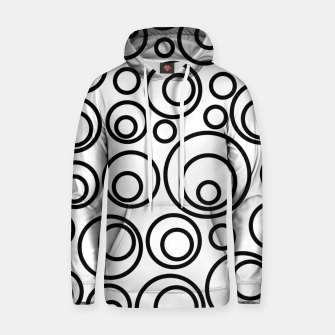 Miniatur Abstract Black On White Circles Design Hoodie, Live Heroes