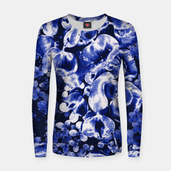 Thumbnail image of Blue Fantasy Frauen sweatshirt, Live Heroes
