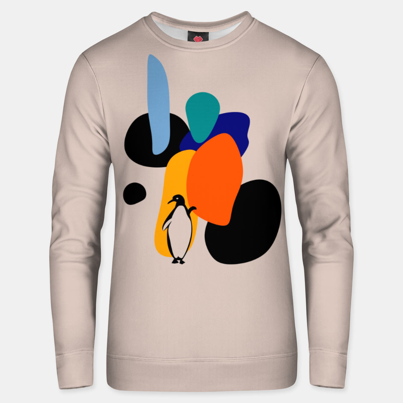 Image of penguin and stones Unisex sweater - Live Heroes