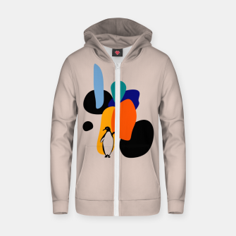 penguin and stones Zip up hoodie thumbnail image