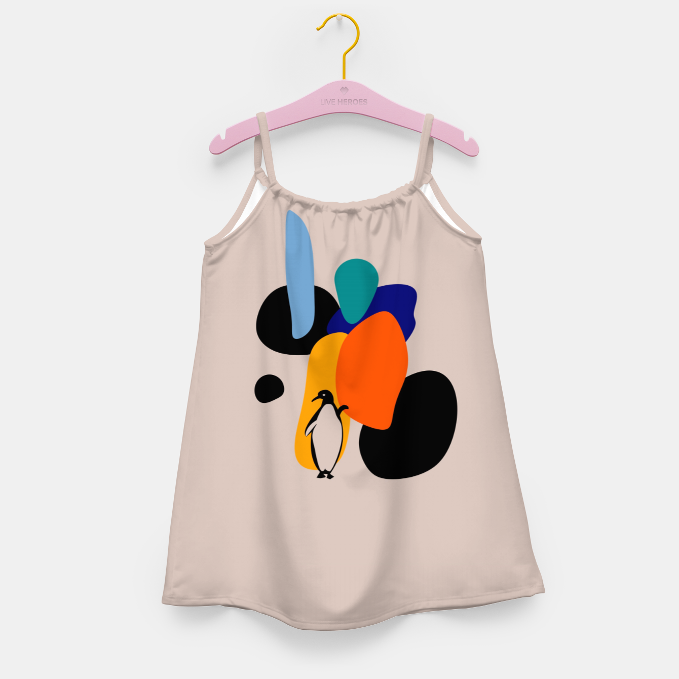 Image of penguin and stones Girl's dress - Live Heroes