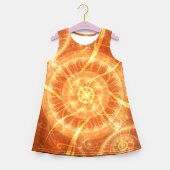 Thumbnail image of Abstract Sun Girl's summer dress, Live Heroes