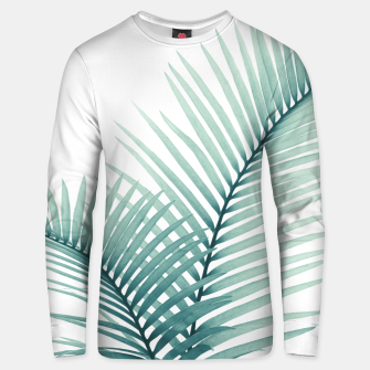 Miniatur Intertwined - Palm Leaves in Love #3 #tropical #decor #art  Unisex sweatshirt, Live Heroes
