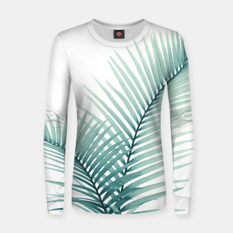 Miniatur Intertwined - Palm Leaves in Love #3 #tropical #decor #art  Frauen sweatshirt, Live Heroes