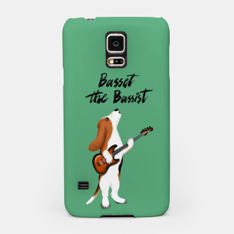 Thumbnail image of Basset the Bassist (Green) Samsung Case, Live Heroes