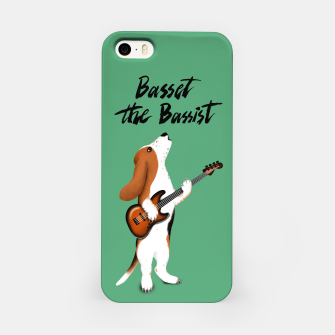 Thumbnail image of Basset the Bassist (Green) iPhone Case, Live Heroes