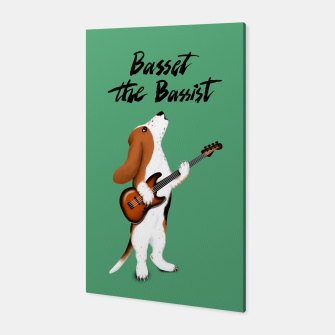 Thumbnail image of Basset the Bassist (Green) Canvas, Live Heroes