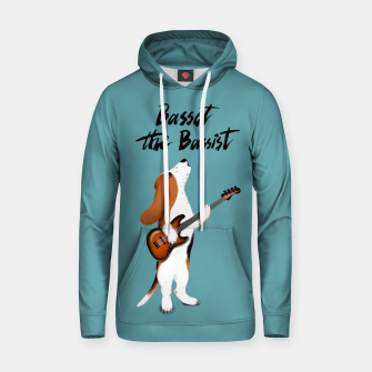 Thumbnail image of Basset the Bassist (Blue-Grey) Hoodie, Live Heroes