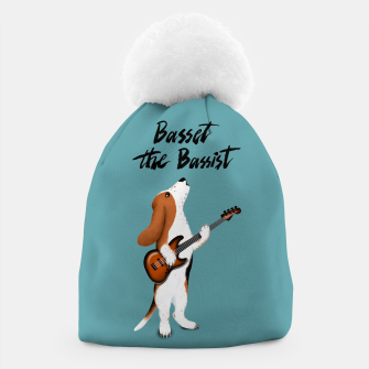 Thumbnail image of Basset the Bassist (Blue-Grey) Beanie, Live Heroes