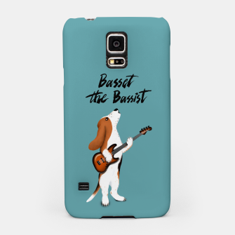 Thumbnail image of Basset the Bassist (Blue-Grey) Samsung Case, Live Heroes