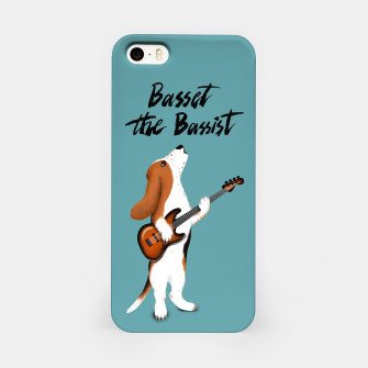 Basset the Bassist (Blue-Grey) iPhone Case miniature