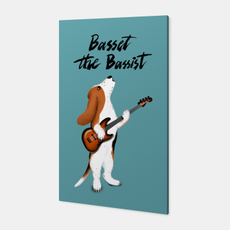 Thumbnail image of Basset the Bassist (Blue-Grey) Canvas, Live Heroes