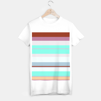 Thumbnail image of minimalistic horizontal stripes pattern s180 T-shirt regular, Live Heroes