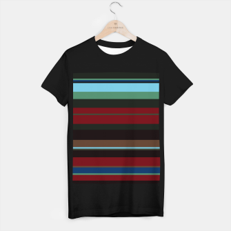 Thumbnail image of minimalistic horizontal stripes pattern s180i T-shirt regular, Live Heroes