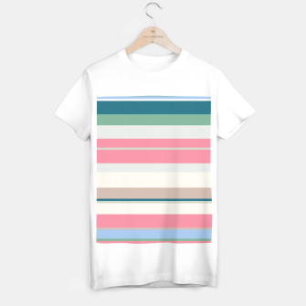 Thumbnail image of minimalistic horizontal stripes pattern std T-shirt regular, Live Heroes