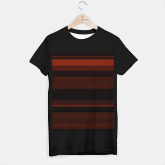 Thumbnail image of minimalistic horizontal stripes pattern gmbri T-shirt regular, Live Heroes