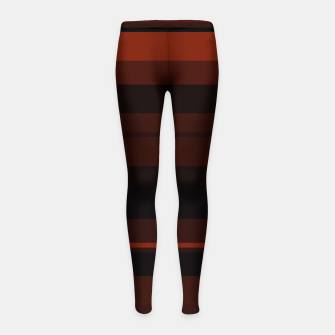 Thumbnail image of minimalistic horizontal stripes pattern gmbri Girl's leggings, Live Heroes