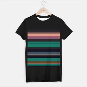 Thumbnail image of minimalistic horizontal stripes pattern stdi T-shirt regular, Live Heroes