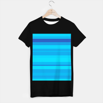 Thumbnail image of minimalistic horizontal stripes pattern gmbt T-shirt regular, Live Heroes