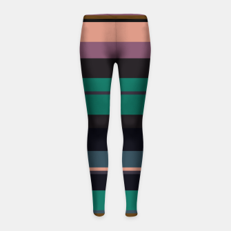 Thumbnail image of minimalistic horizontal stripes pattern stdi Girl's leggings, Live Heroes