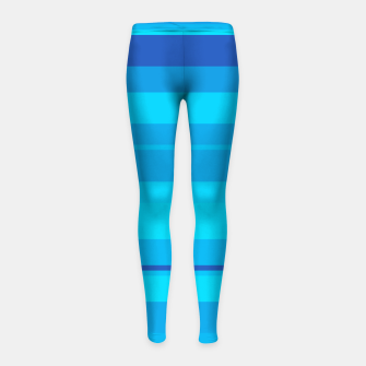 Thumbnail image of minimalistic horizontal stripes pattern gmbt Girl's leggings, Live Heroes