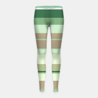Thumbnail image of minimalistic horizontal stripes pattern tg Girl's leggings, Live Heroes