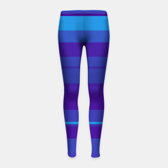 Thumbnail image of minimalistic horizontal stripes pattern gmbti Girl's leggings, Live Heroes