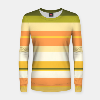 Thumbnail image of minimalistic horizontal stripes pattern w81 Women sweater, Live Heroes