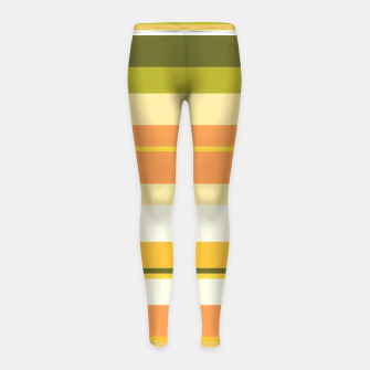 Thumbnail image of minimalistic horizontal stripes pattern w81 Girl's leggings, Live Heroes