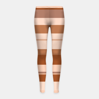 Thumbnail image of minimalistic horizontal stripes pattern gmbwi Girl's leggings, Live Heroes