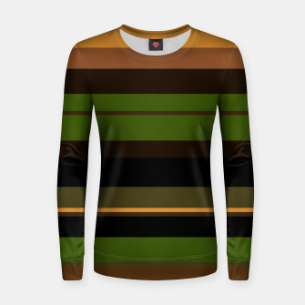 Thumbnail image of minimalistic horizontal stripes pattern w81i Women sweater, Live Heroes