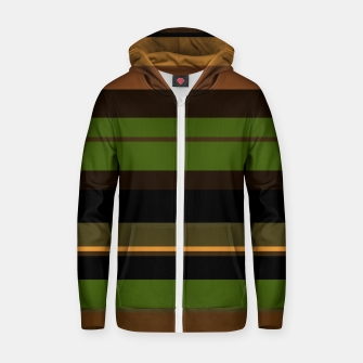 Thumbnail image of minimalistic horizontal stripes pattern w81i Zip up hoodie, Live Heroes