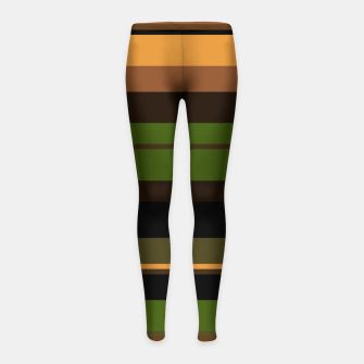 Thumbnail image of minimalistic horizontal stripes pattern w81i Girl's leggings, Live Heroes